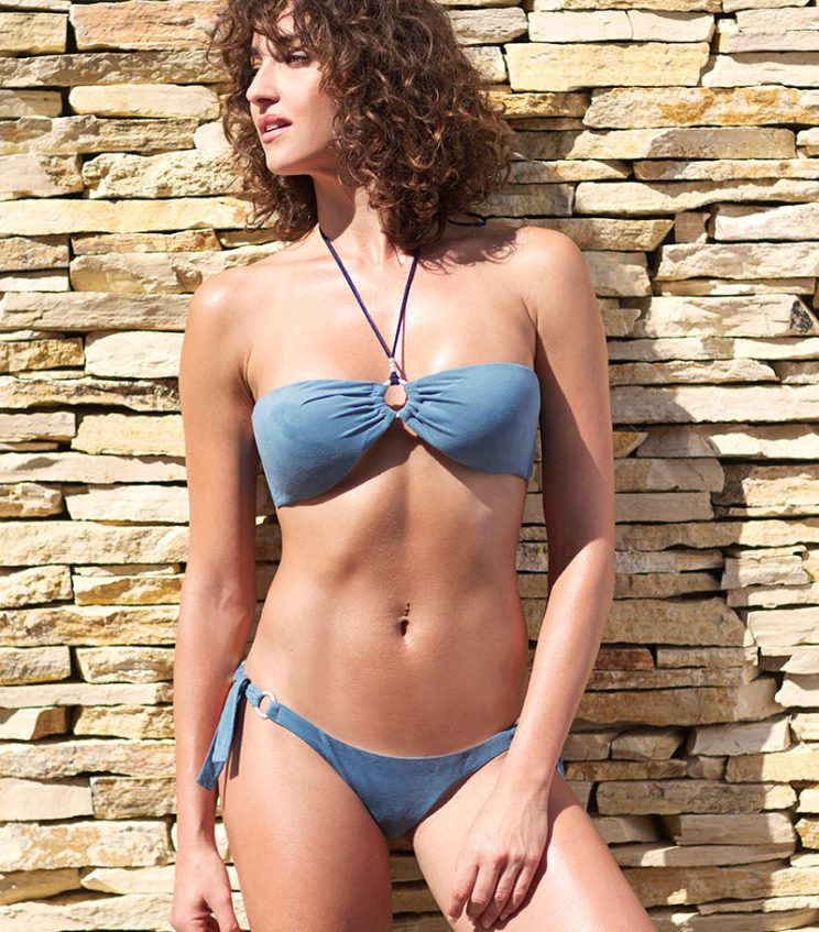 BDM17-A-Azul, Bikini bandeau, Bikini antelina azul, Bikini azul, Bikini Barcelona, Bikini customizado, verano 2017