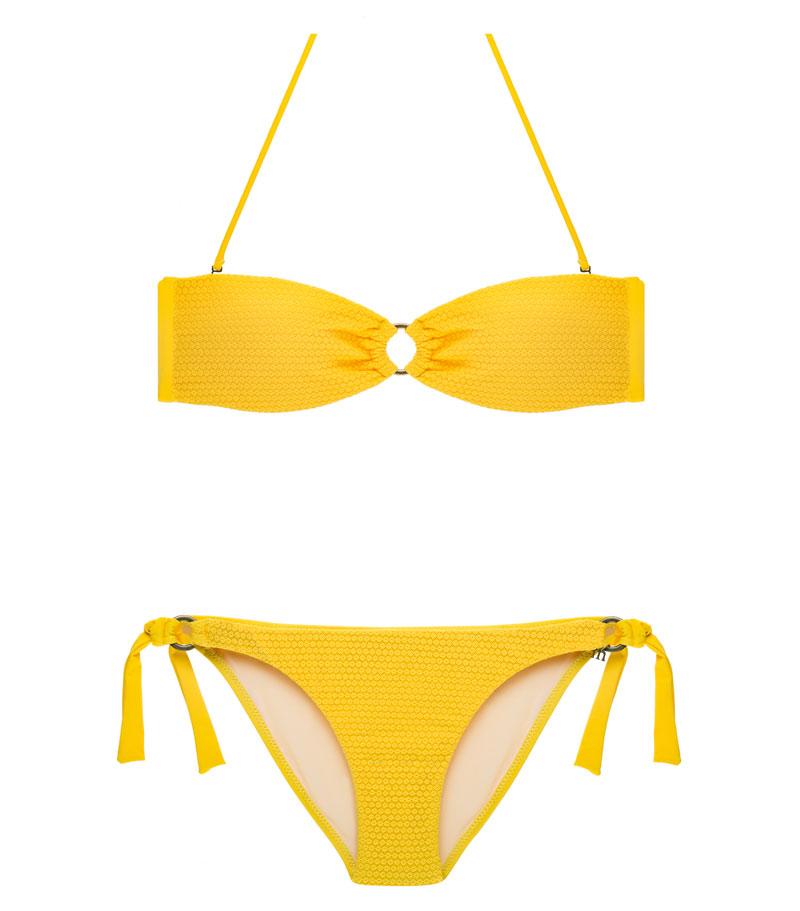 BDM17-C-Amarillo, Bikini Bandeau, Bikini calado, Bikini calado amarillo, Bikini Barcelona, Bikini customizado, verano 2017