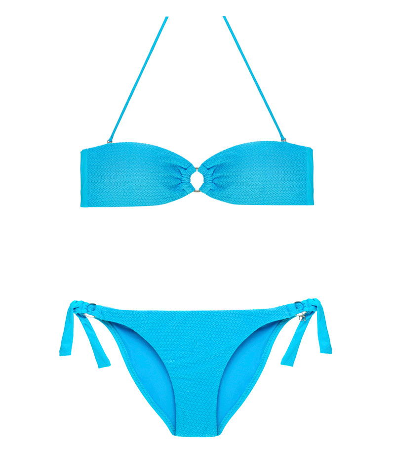 BDM17-C-Azul Claro, Bikini Bandeau, Bikini calado, Bikini calado azul claro, Bikini Barcelona, Bikini customizado, verano 2017
