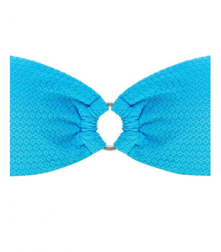 BDM17-C-Azul Claro, Bikini Bandeau, Bikini calado, Bikini calado azul claro, Bikini Barcelona, Bikini cutomizado, verano 2017