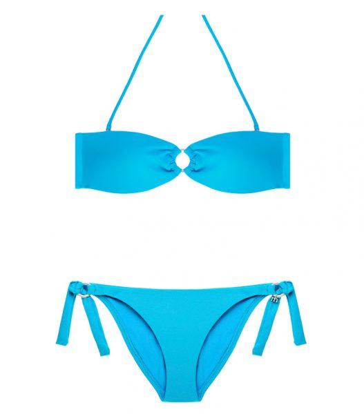 BDM17-P-Azul Claro, Bikini Bandeau, Bikini azul claro, Bikini bandeau azul, Bikini Barcelona, Bikini customizado, verano 2017