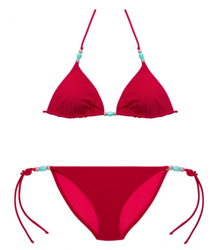 Bikini rojo modelo Índico   MaguaBcn