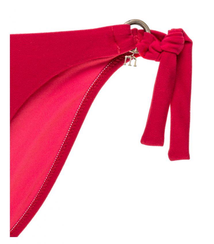 BDM17-V-Rojo, Bikini bandeau, Bikini lycra perchada, Bikini rojo, Bikini ajustable, Bikini Barcelona, Bikini customizado, verano 2017